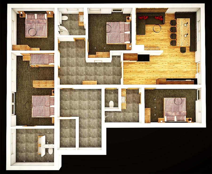 Appartement Schönachtal Grundriss